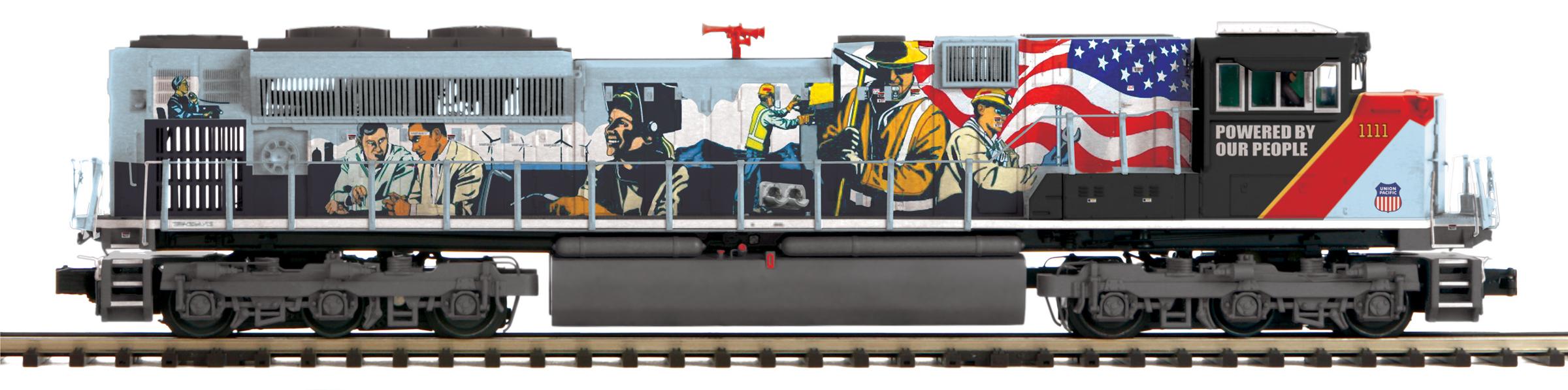 MTH 20-21264-1 O EMD SD70ACe 3 Rail Hi Rail Wheels Proto Sound 3.0 Union Pacific 1111