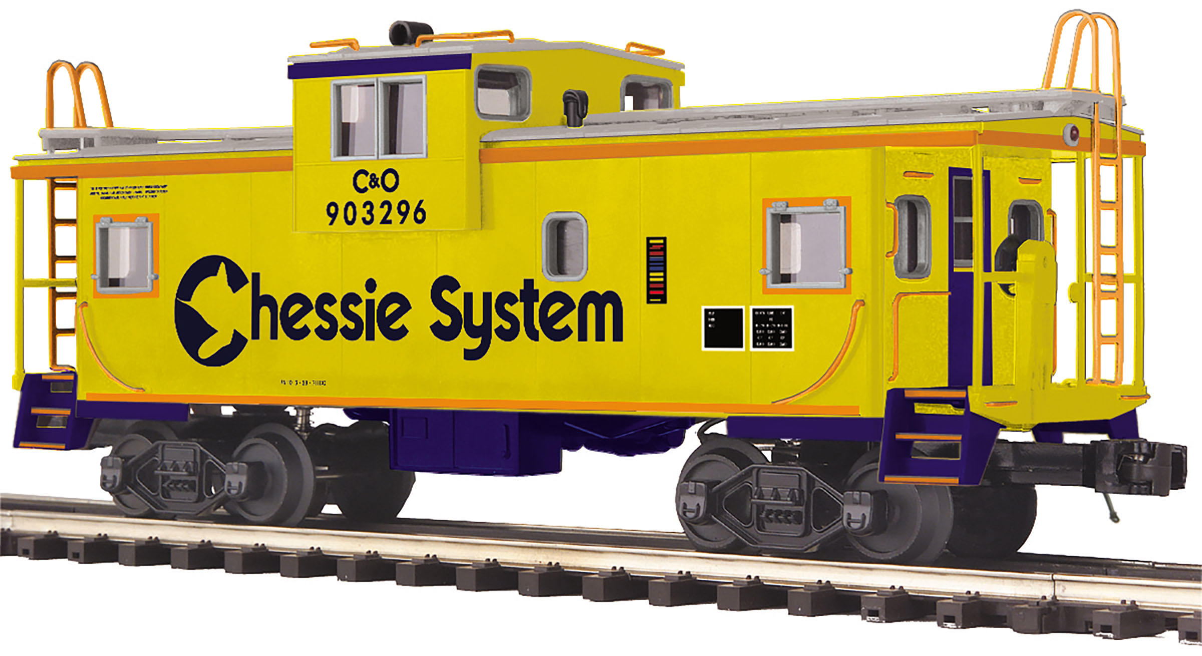 MTH 2091658 O Extended-Vision Caboose 3-Rail Ready to Run Premier Chessie System 903296 507-2091658
