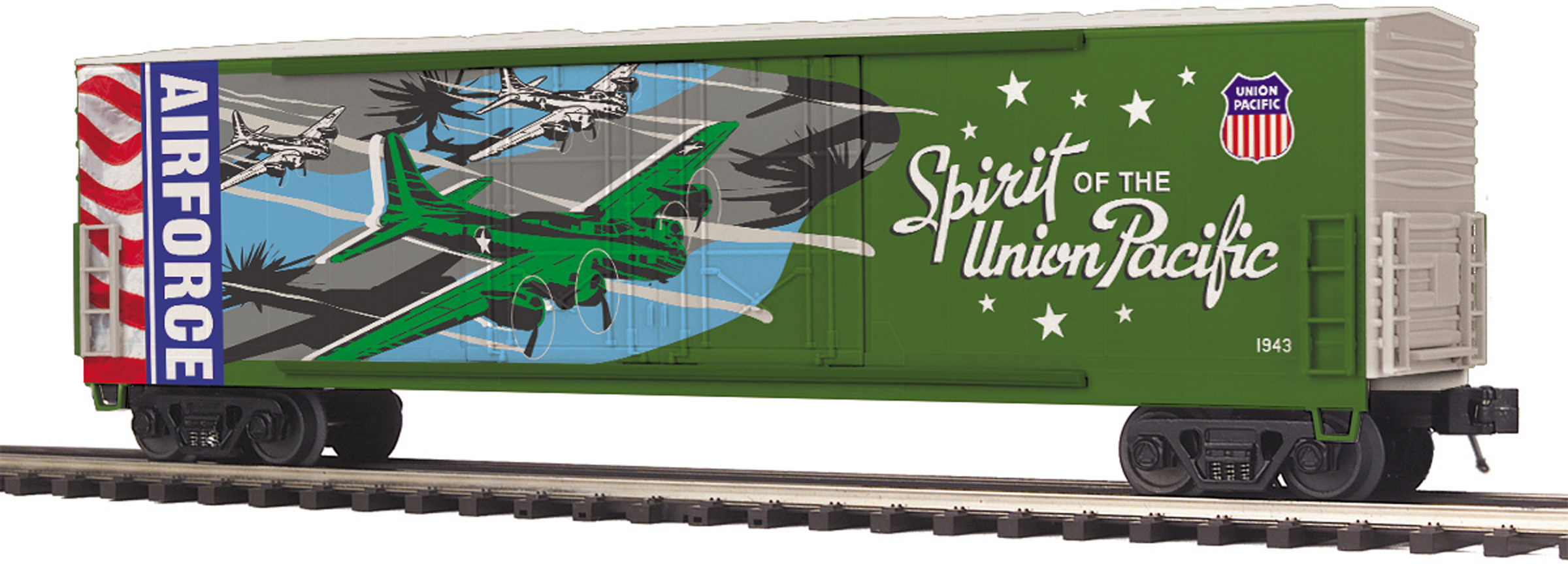 MTH 2093752 O 50' Double-Plug-Door Boxcar 3-Rail RTR Premier Union Pacific Air Force Commemorative 507-2093752