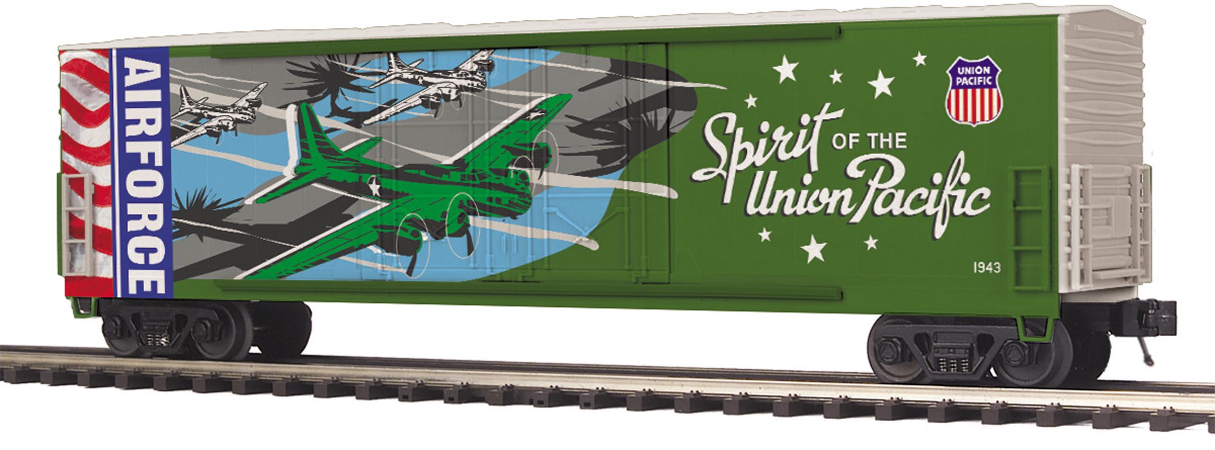 MTH 20-93752 50' Double Plug Door Boxcar 3 Rail Premier Union Pacific