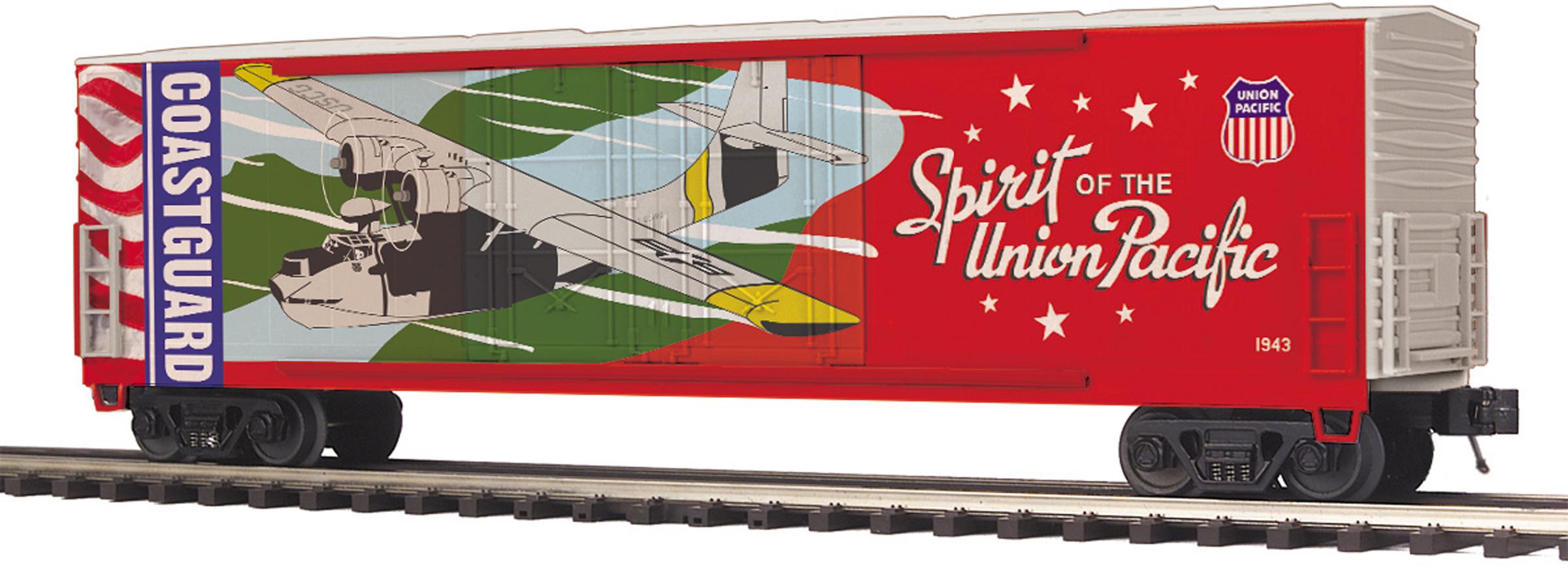 MTH 20-93753 50' Double Plug Door Boxcar 3 Rail Premier Union Pacific