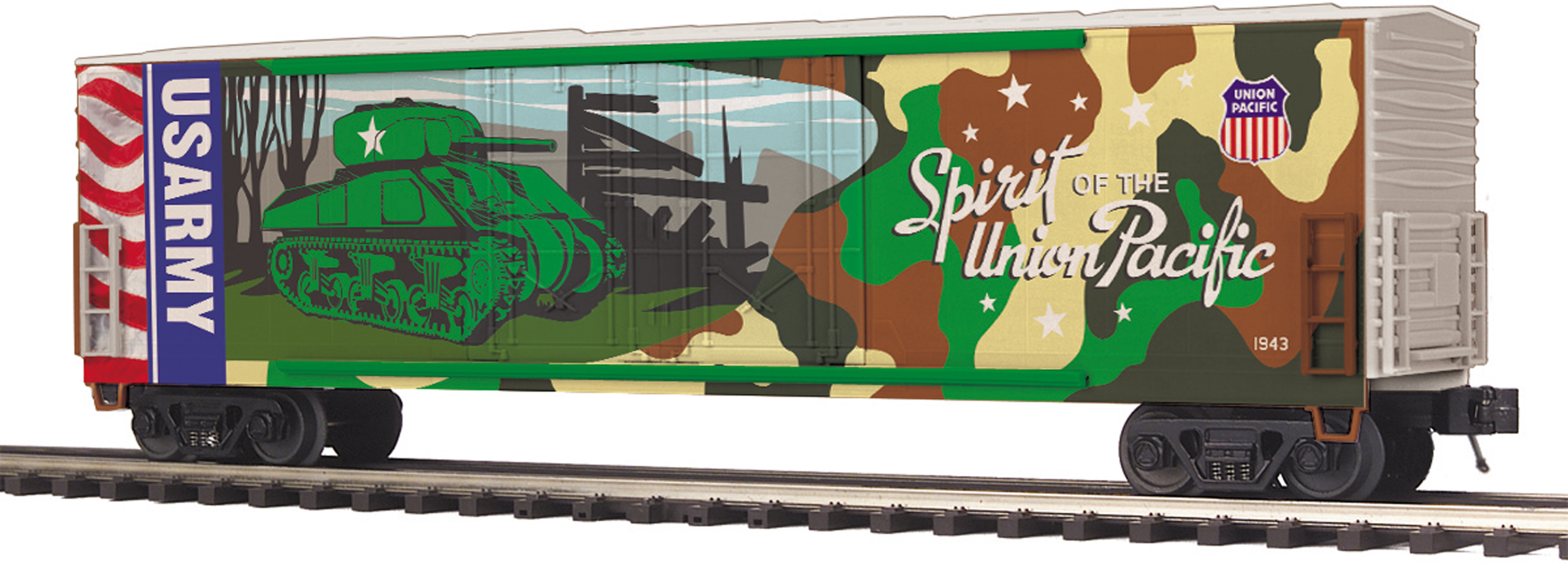 MTH 20-93757 50' Double Plug Door Boxcar 3 Rail Premier Union Pacific