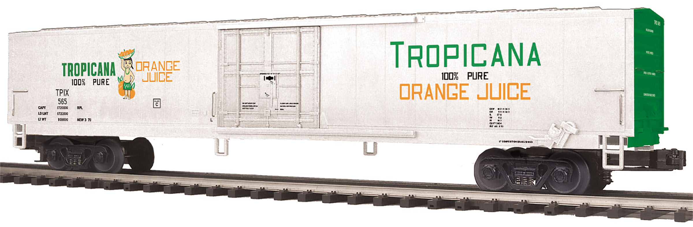 MTH2094431 MTH Electric Trains O 60' Reefer Tropicana 656 507-2094431