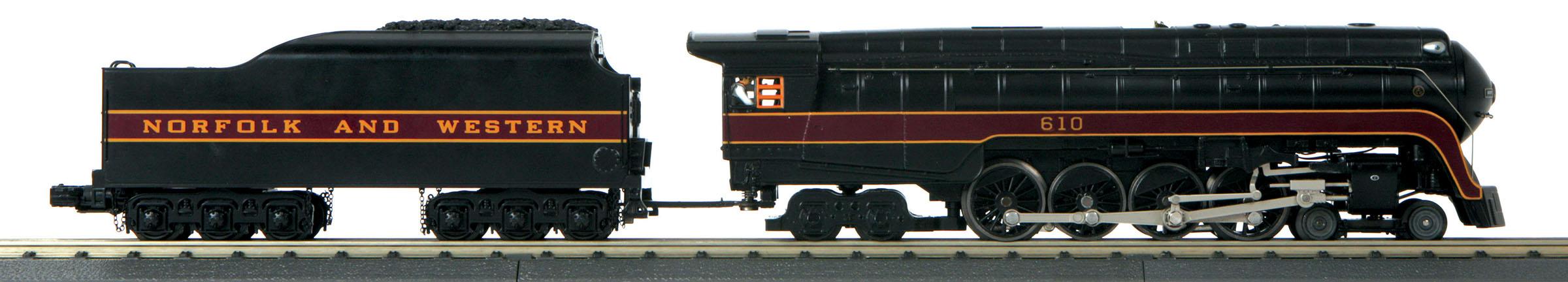 MTH 3017921 O-27 Imperial 4-8-4 J w/PS3 N&W #610