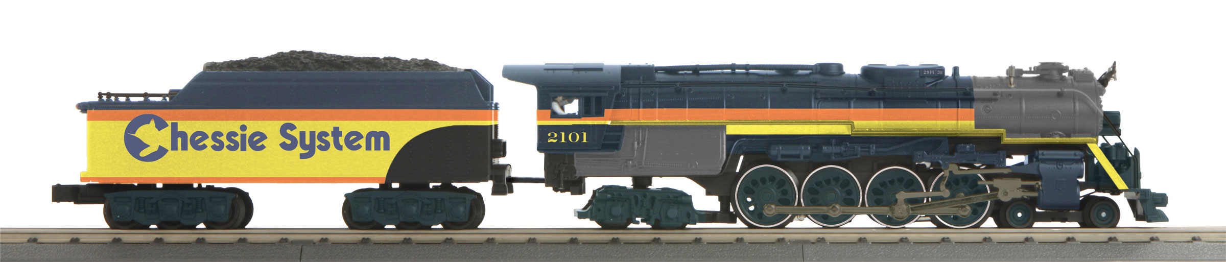 MTH 3017941 O 4-8-4 Northern 3-Rail with Proto-Sound 3.0 Imperial Chessie System 2101 507-3017941