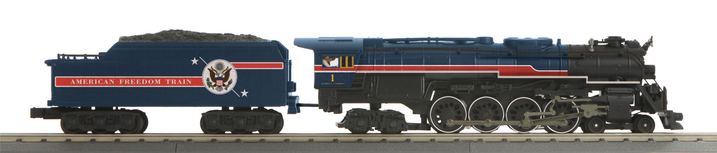 MTH 3017961 O 4-8-4 Northern 3-Rail with Proto-Sound 3.0 Imperial American Freedom Train 1 507-3017961