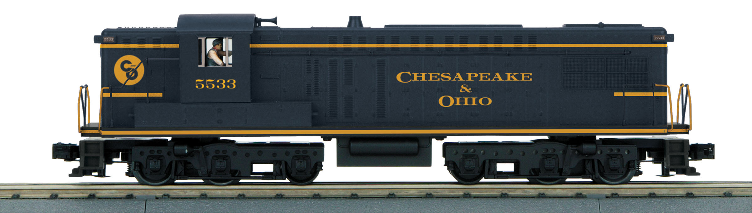 MTH30205891 MTH Electric Trains O-27 AS-16 w/PS3, C&O #5533