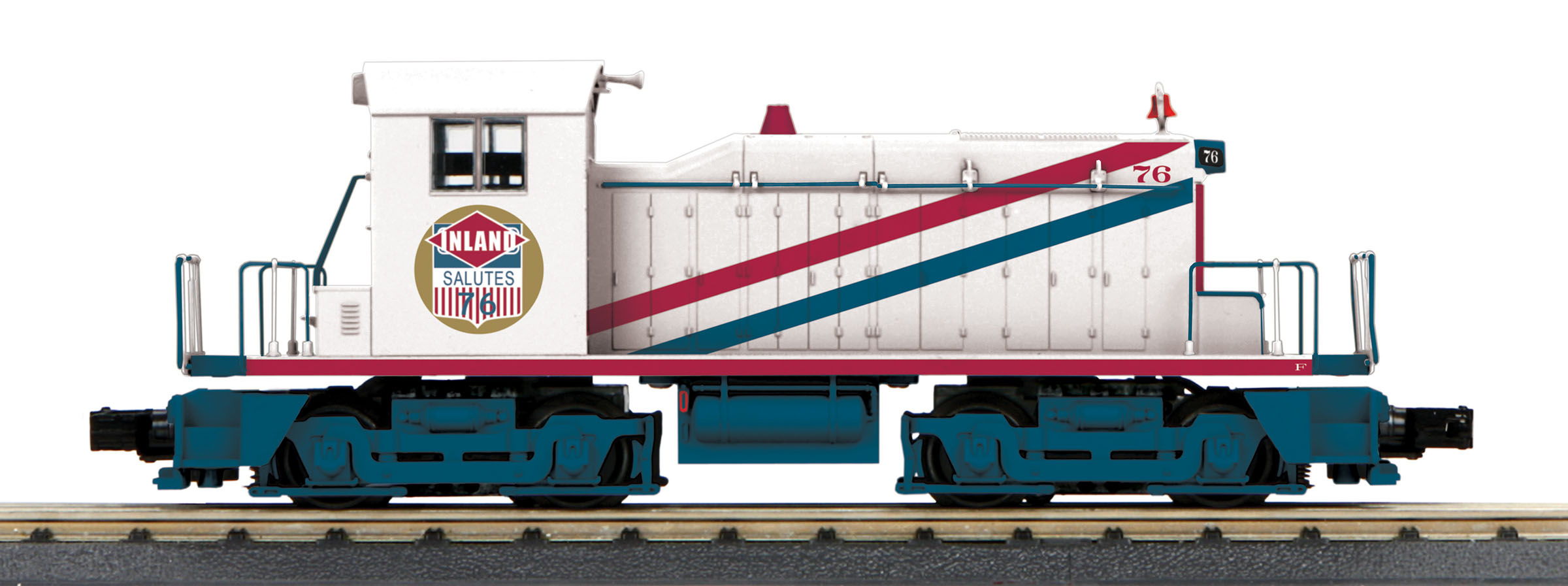 MTH 30205991 O-27 SW-1 Switcher w/PS3, Inland Steel #76 MTH30205991