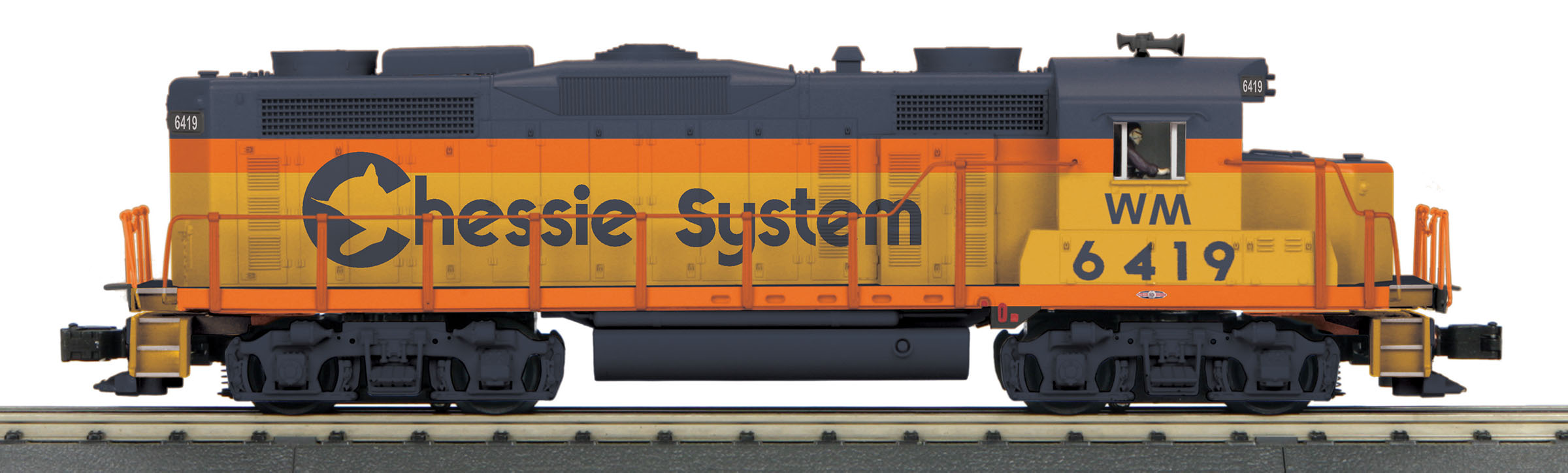 MTH30206081 MTH Electric Trains O-27 GP-20 w/PS3, Chessie #6419