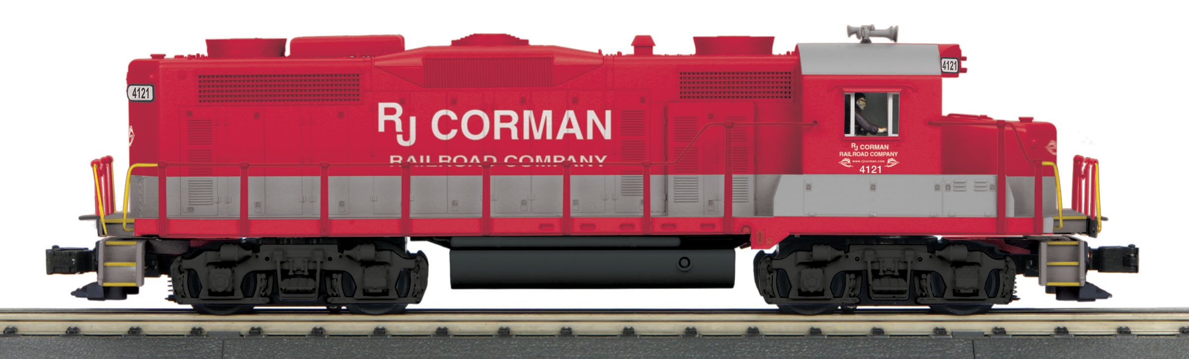 MTH 30206101 O-27 GP-20 w/PS3, RJ Corman #4121 MTH30206101