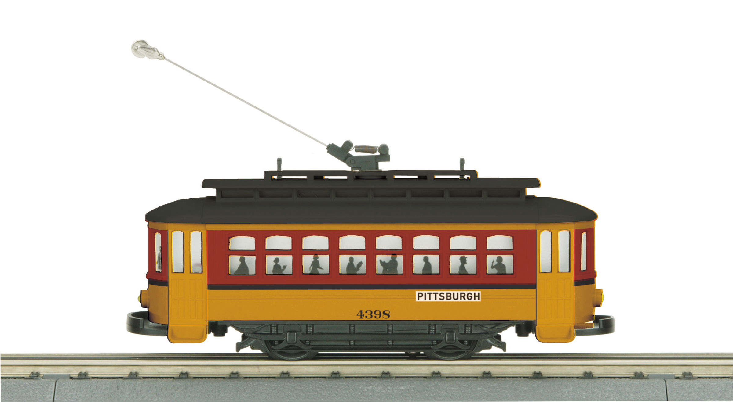 MTH 305177 O-27 Bump-n-GoTrolley Pittsburgh