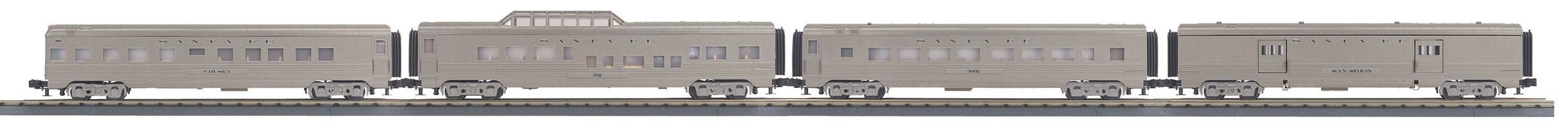 MTH 30-68123 O-27 60' Streamline Passenger Cars SF #3412 4