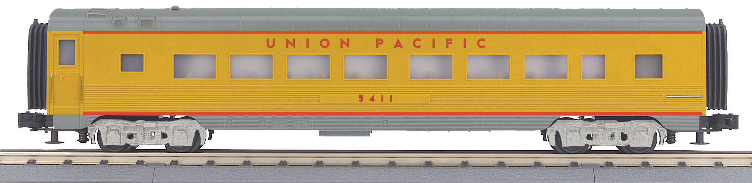 MTH 30-68142 60' Streamlined Coach 3 Rail RailKing Union Pacific