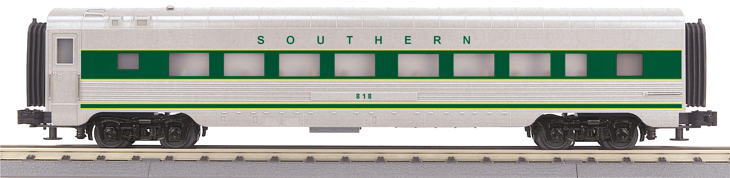 MTH 30-68162 60' Streamlined Coach 3 Rail RailKing Southern Railway