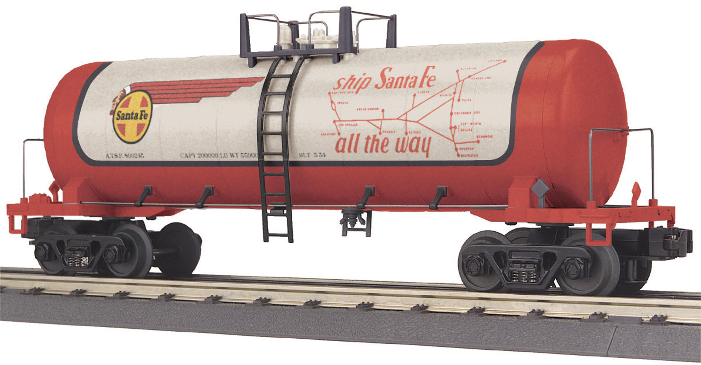 70-75043 MTH ONE GAUGE Santa Fe 4-Bay Hopper Car No. 81856