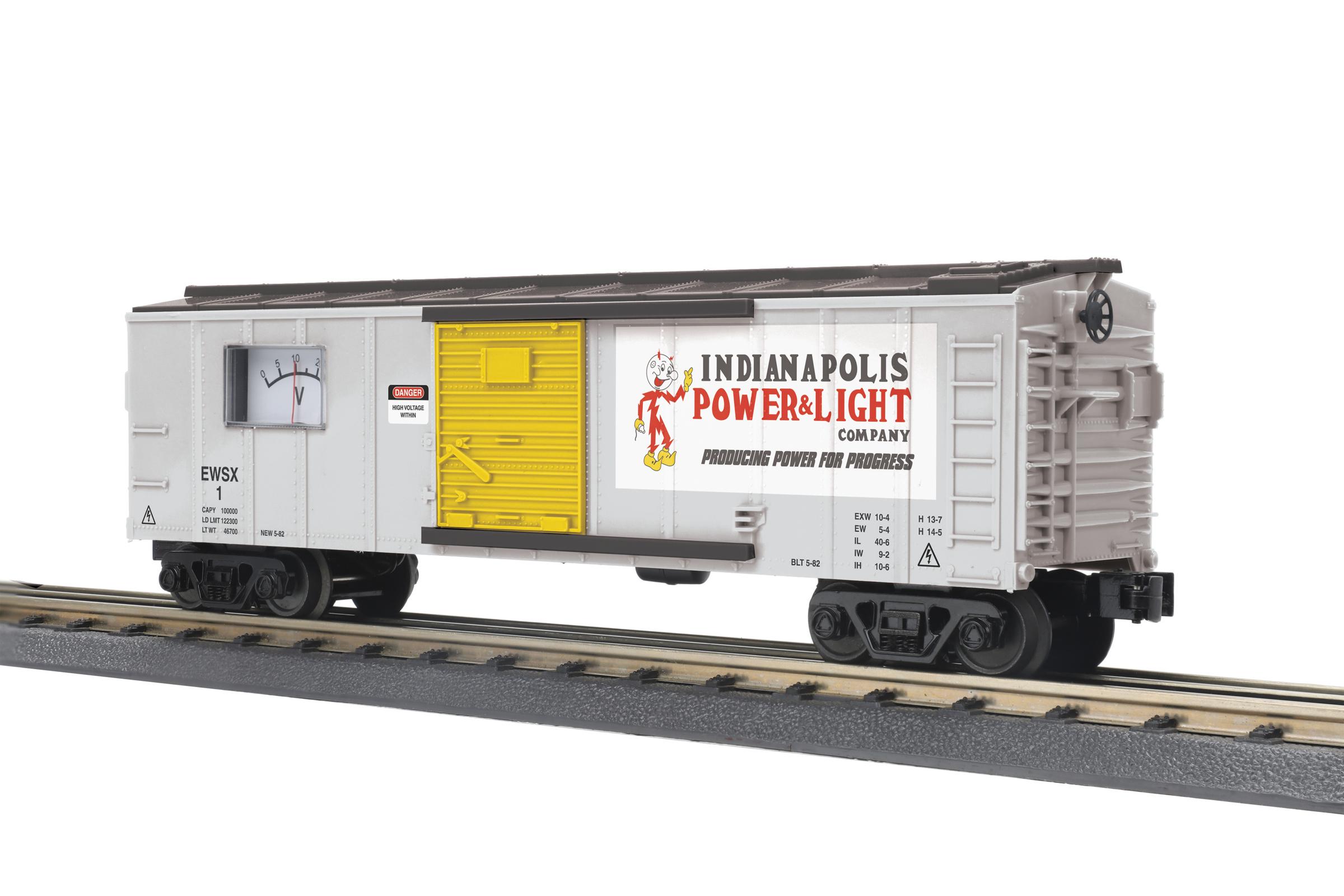 O Gauge RailKing Box Car W/Power Meter