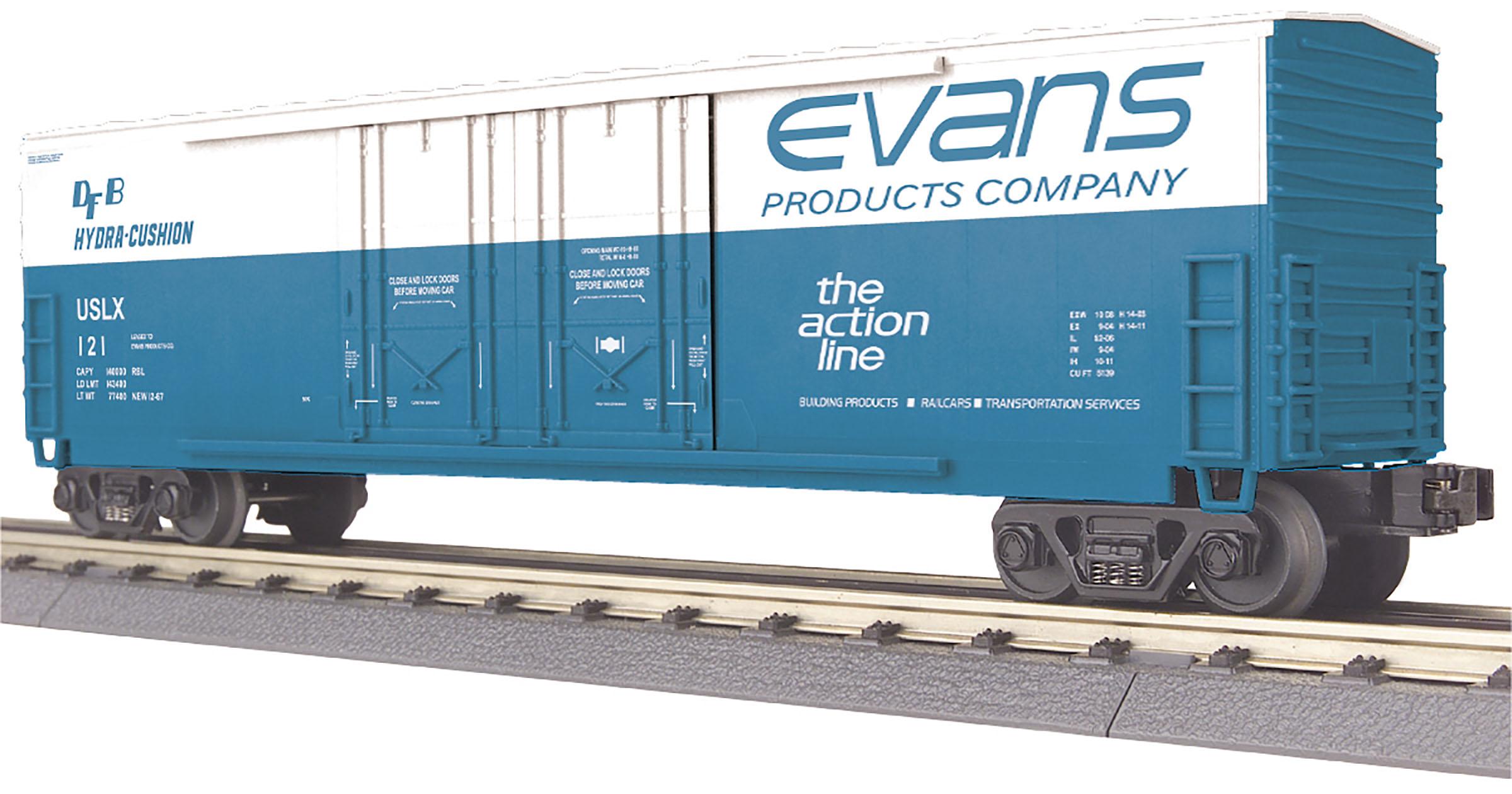 MTH 30-74984 50' Double Plug Door Boxcar 3 Rail RailKing Evans 121