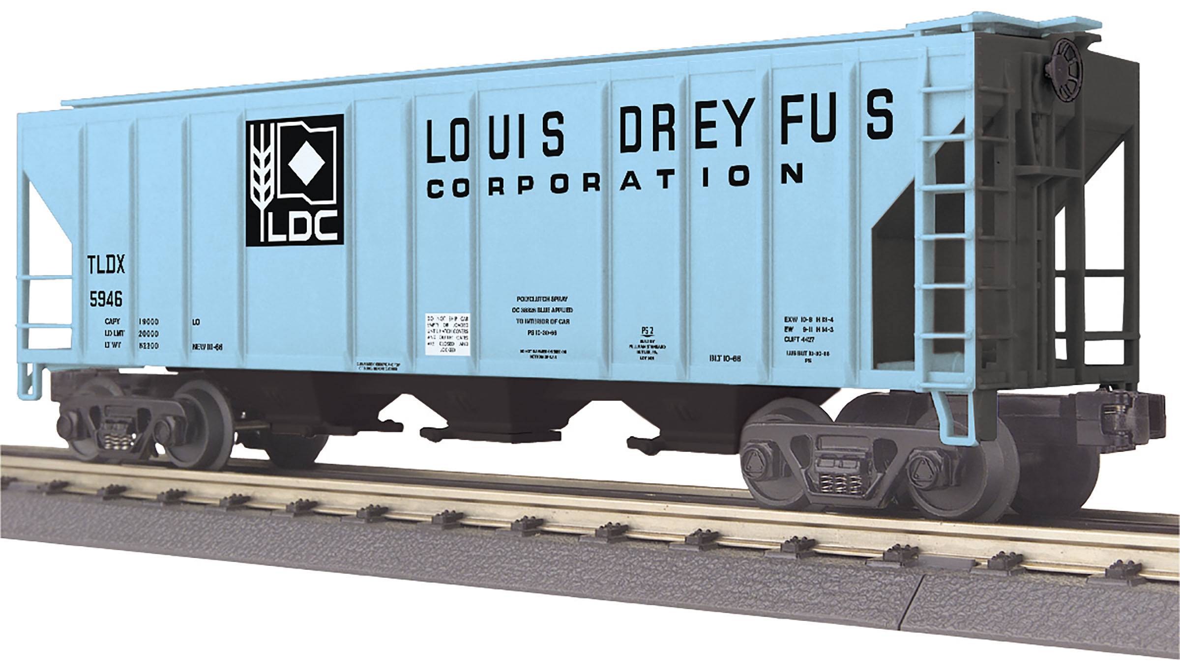 MTH3075625 MTH Electric Trains O-27 PS-2 Discharge Hop, Louis Dreyfus Corp #5946
