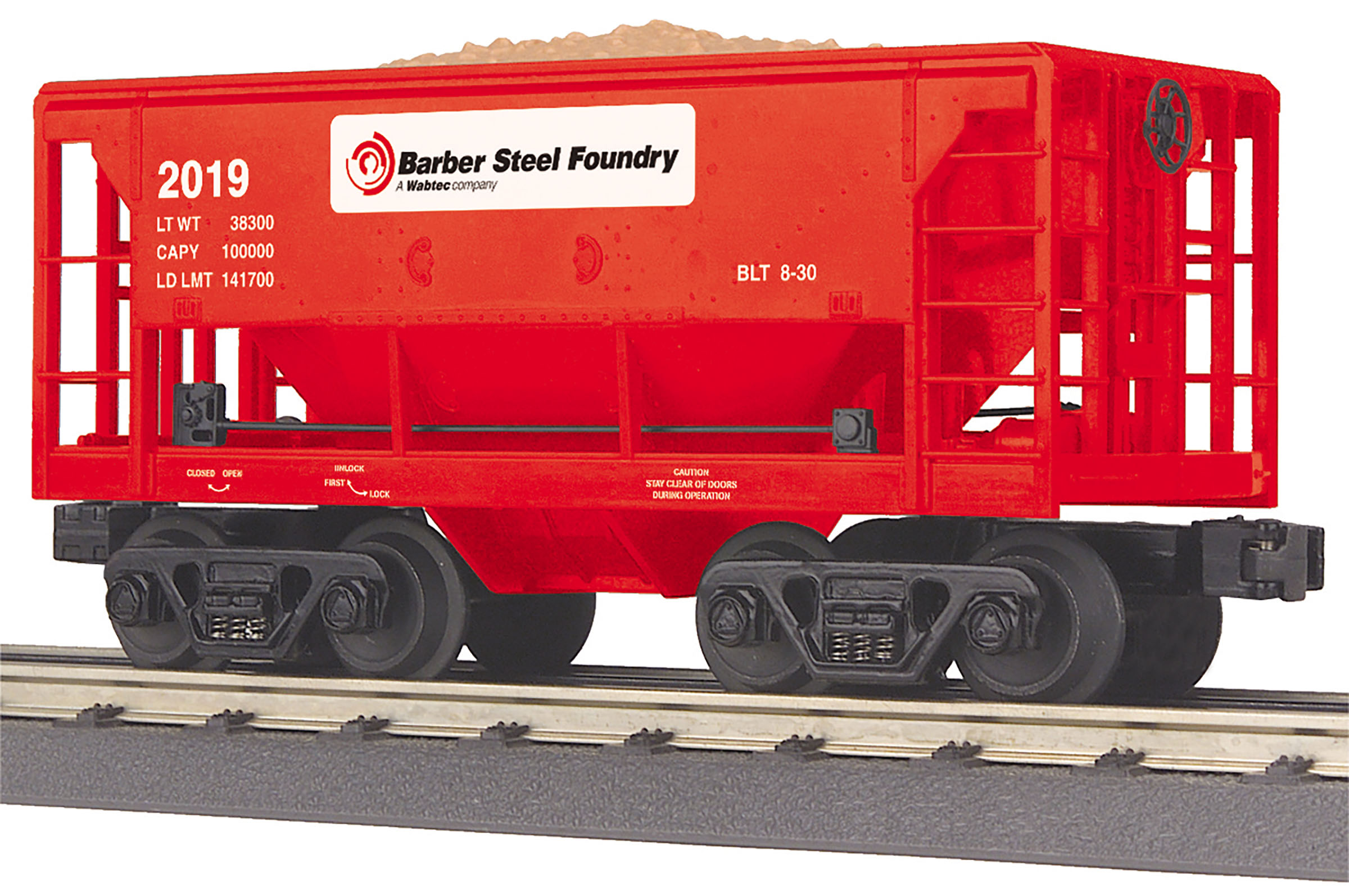 MTH 30-75643 Ore Car 3 Rail RailKing Barber Foundry 2019