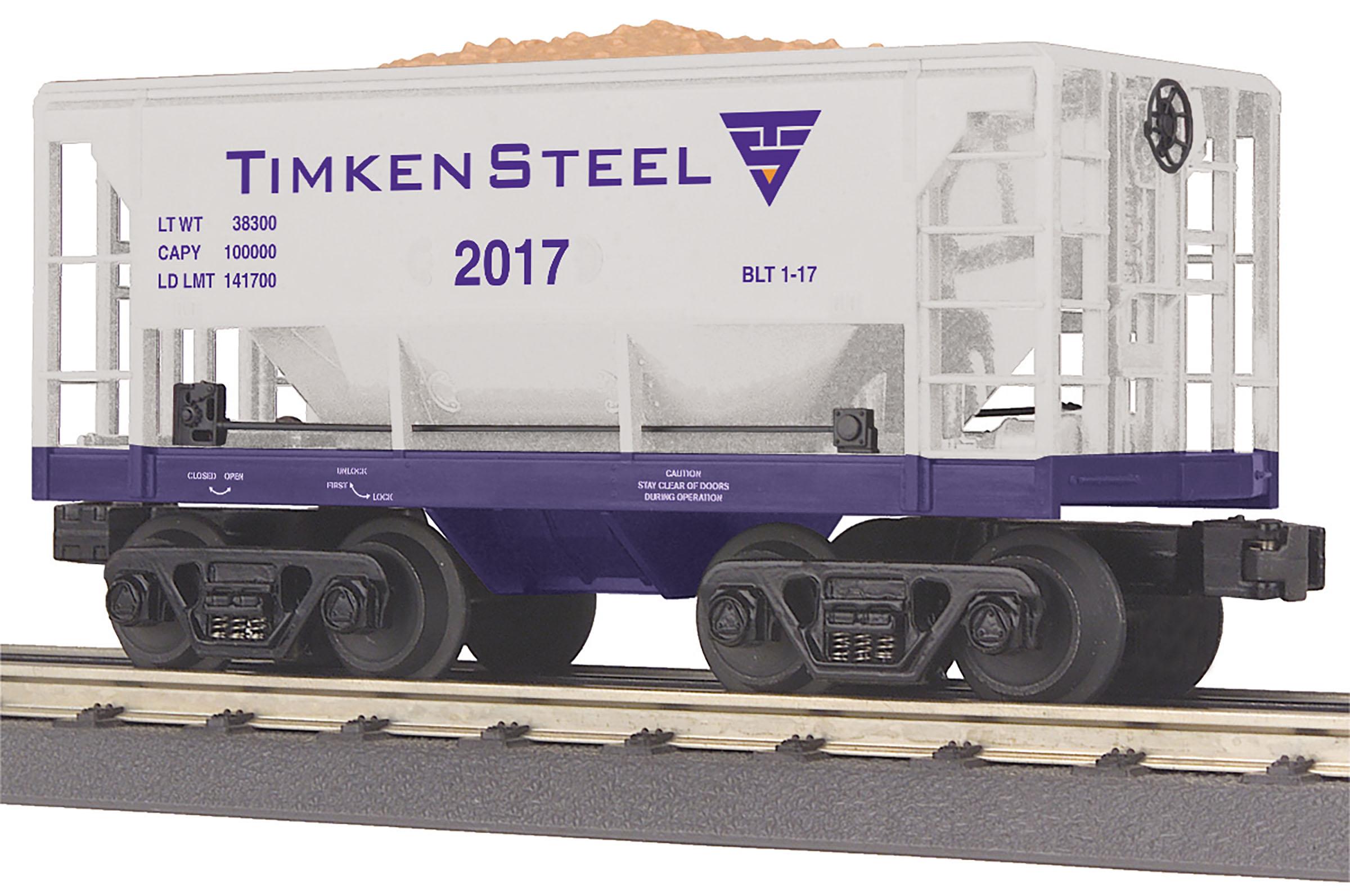 MTH 30-75645 Ore Car 3 Rail RailKing Timken Steel 2017