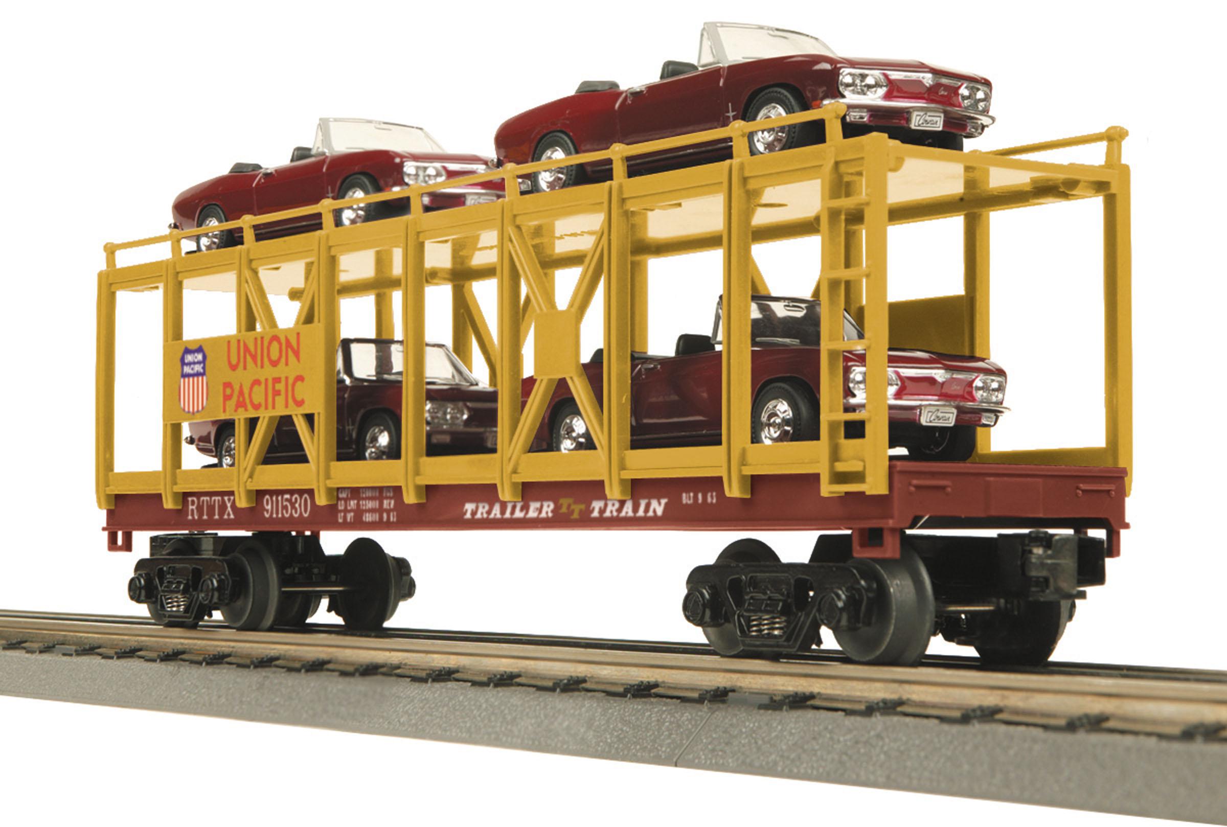 Rail King Union Pacific Flatcar w//Trailer #30-7632 O scale