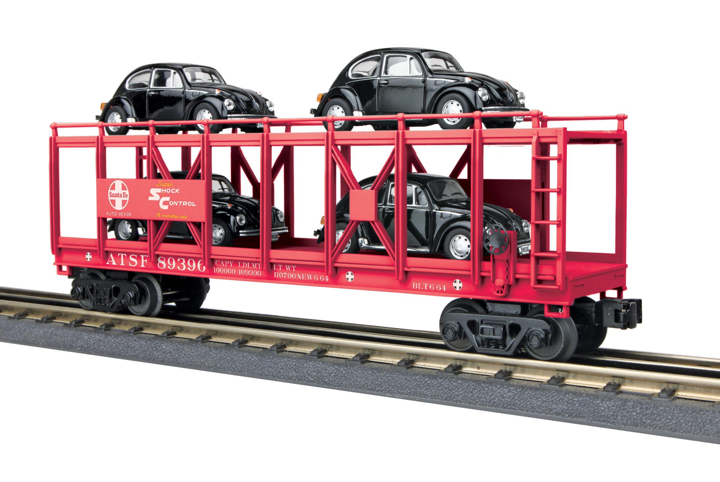 MTH 30-76680 AutoCarrier w/4 VW ATSF