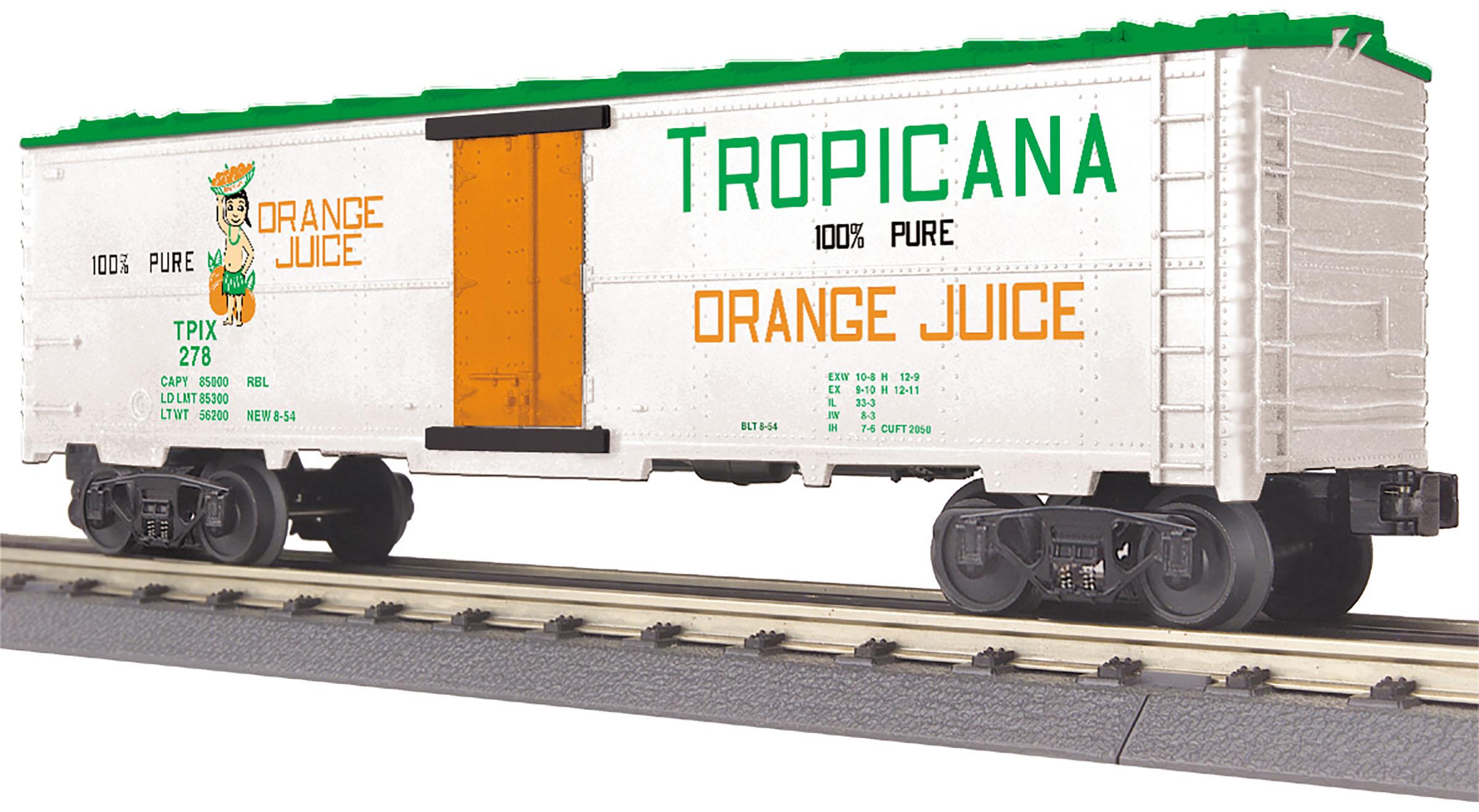 MTH 30-78215 Modern Reefer 3 Rail RailKing Tropicana 278