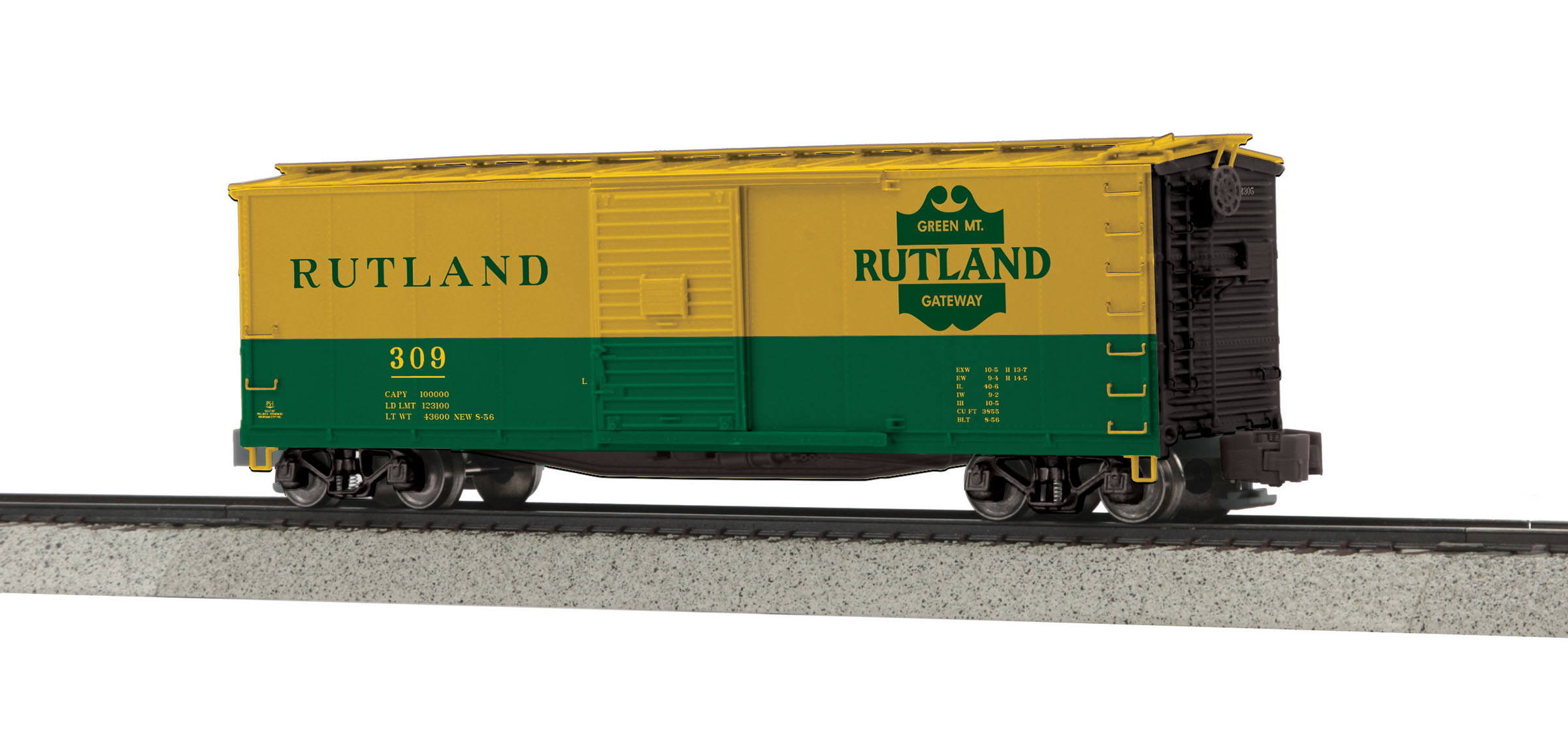 MTH 3574040 Rebuilt Steel Box Car Hi-Rail Wheels RUT #309