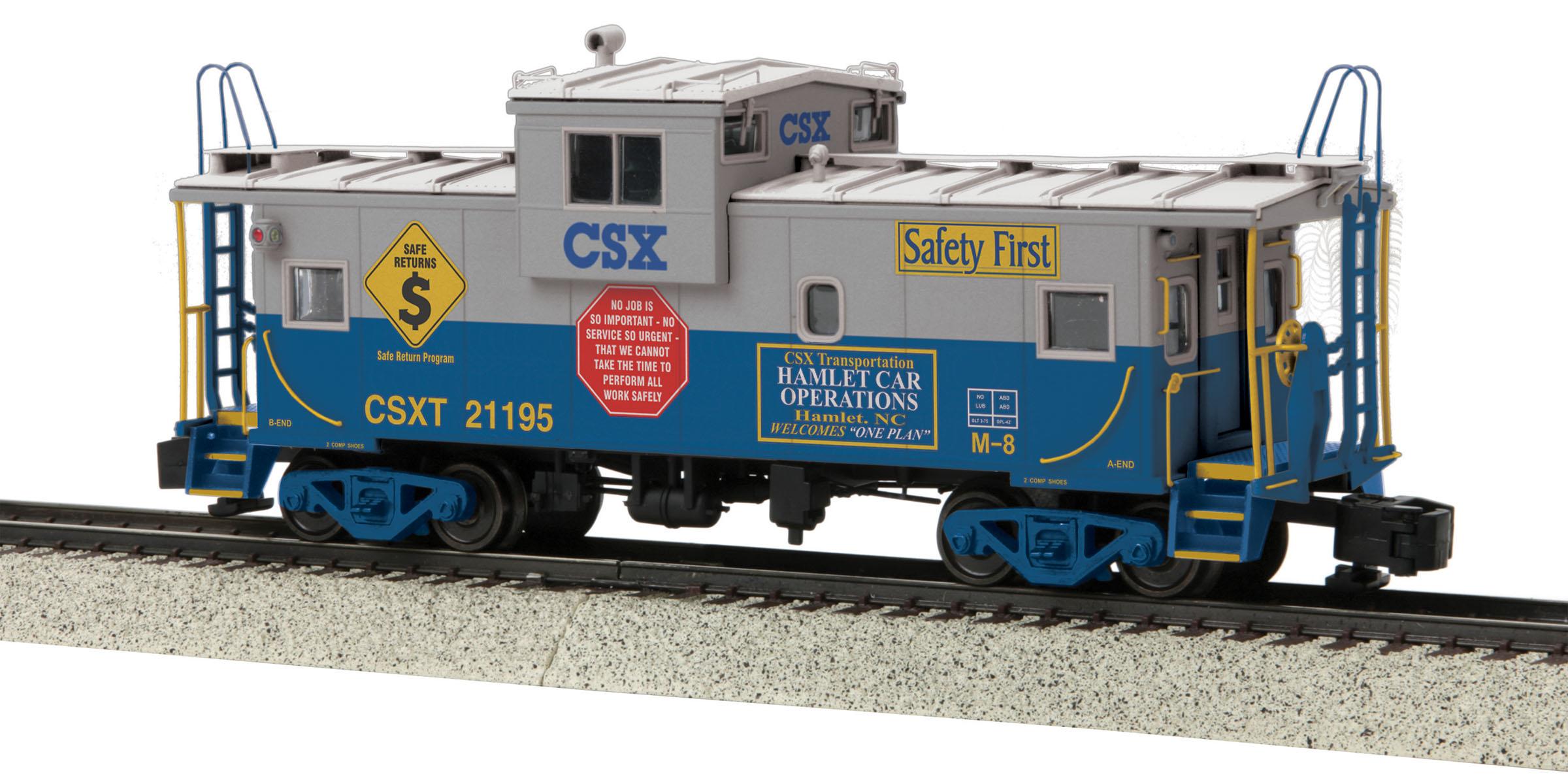 MTH 3577004 Extended Vision Caboose Hi-Rail Wheels CSX #21195