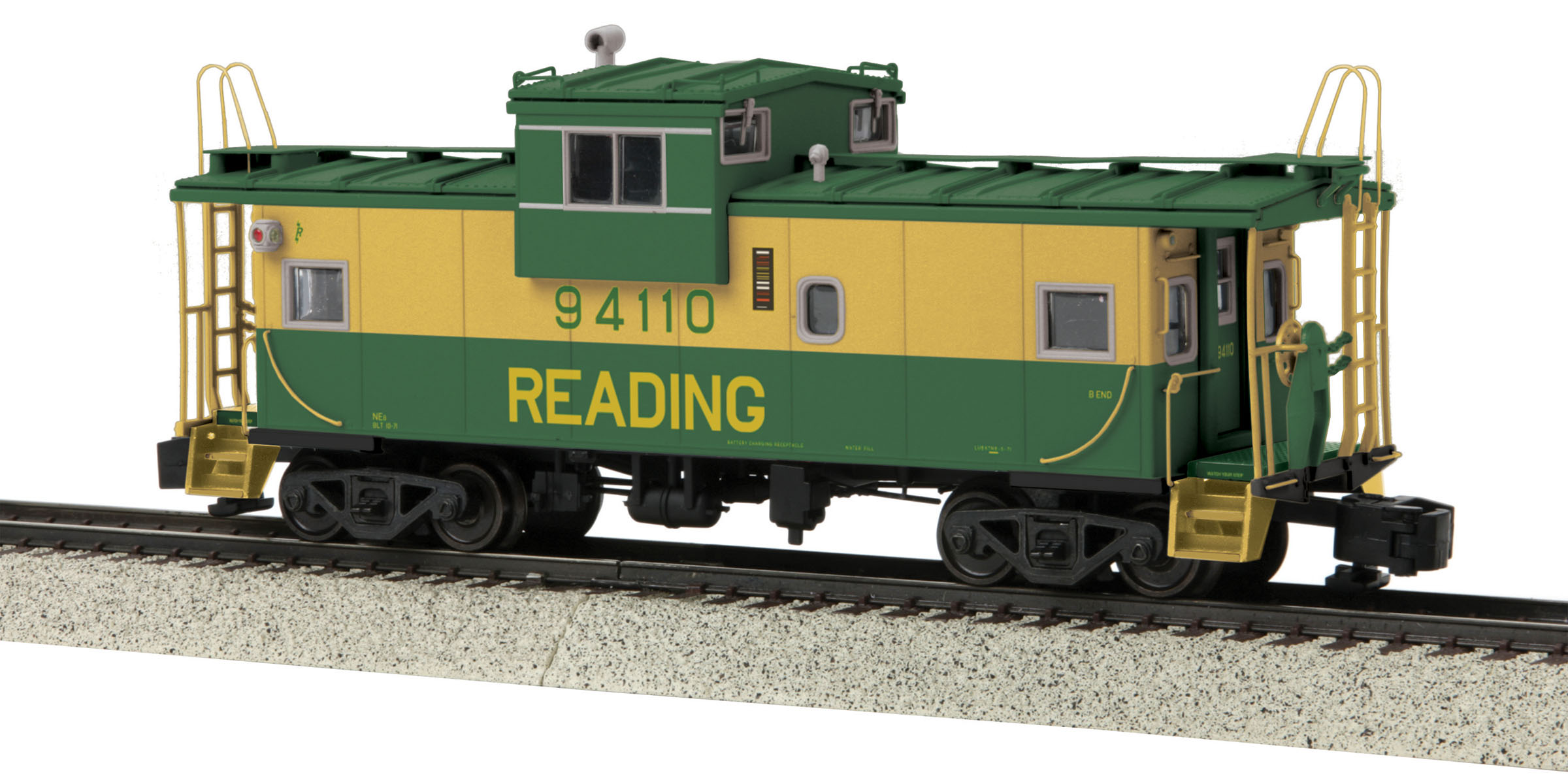 MTH 3577005 Extended Vision Caboose Hi-Rail Wheels RDG #94110