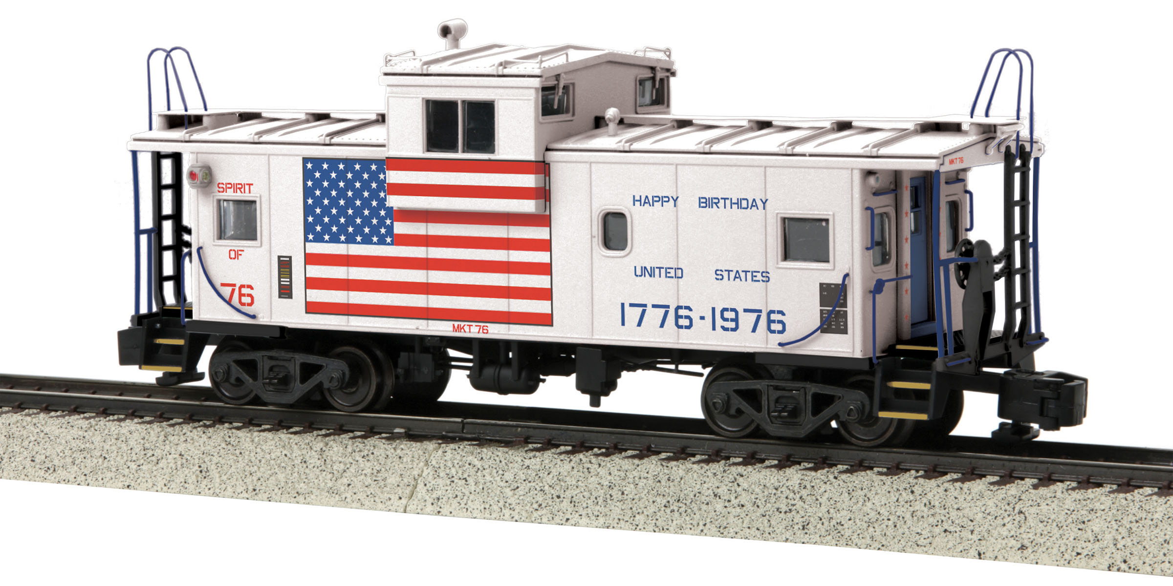 MTH 3577006 Happy Birthday America Extended Hi-Rail Wheels #76