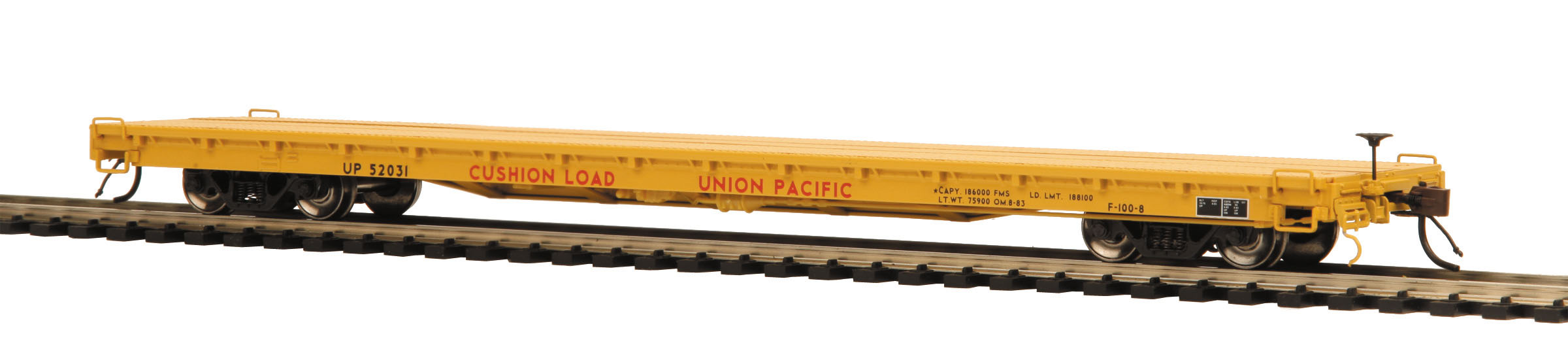 MTH 20-98778 Canadian National Flat Car w//Bulkheads /& Covered Wood Load  O Gauge