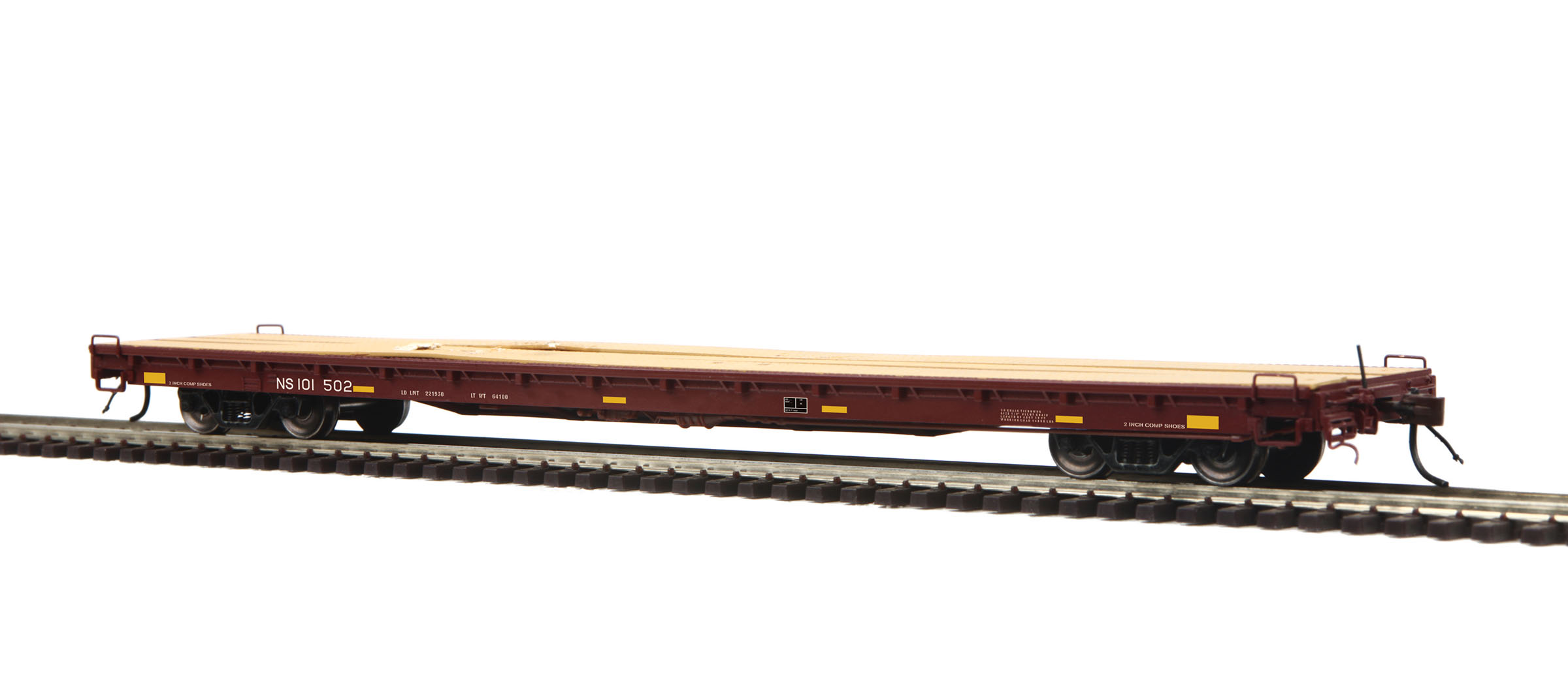 MTH 80-98036 60' Wood Deck Flatcar Norfolk Southern 101502