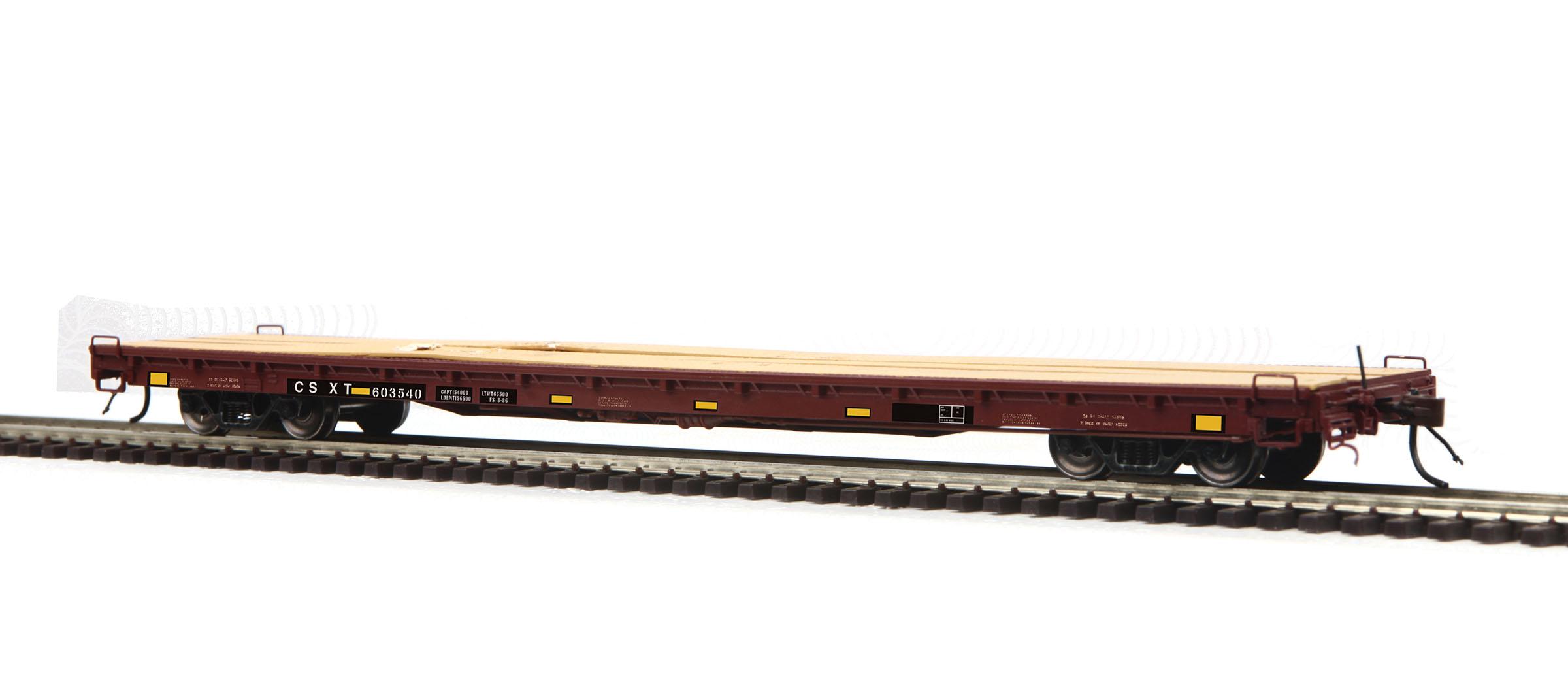 MTH 8098037 HO 60' Wood Deck Flatcar RTR CSX 603540 507-8098037