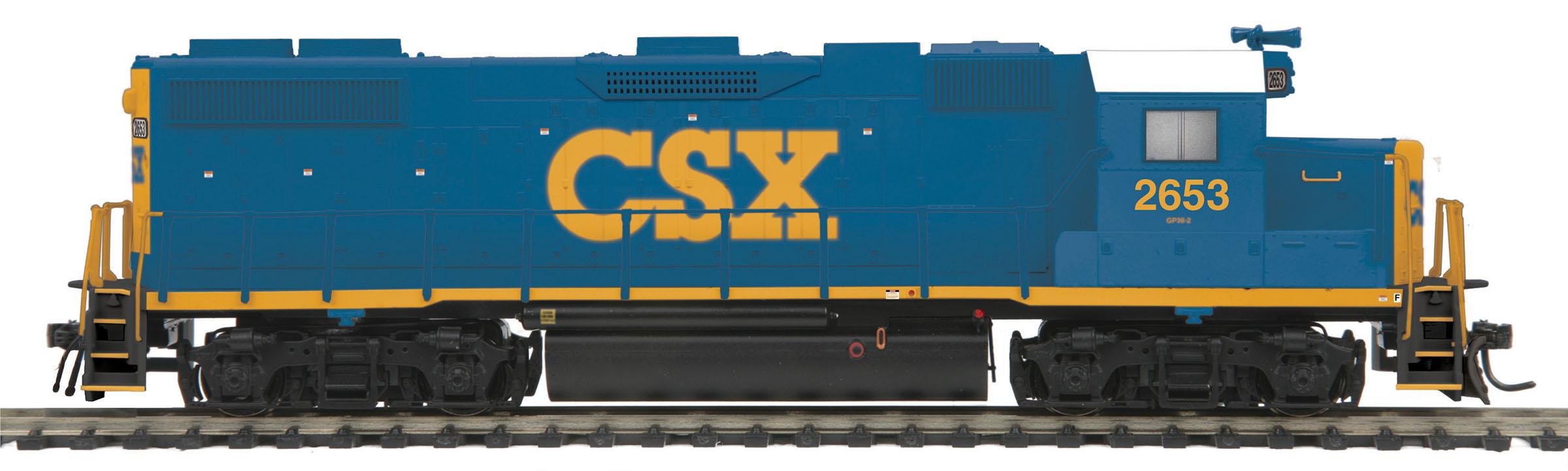 MTH 85-2056-1 EMD GP38 2 Proto Sound 3.0 & DCC CSX 2653